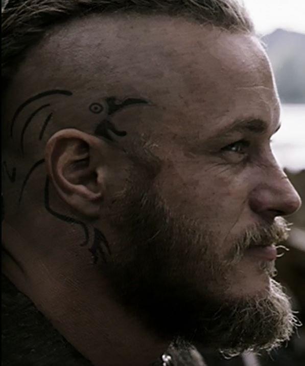 Ragnar lodbrok raven tattoo tattoos pinterest raven for Did vikings have tattoos