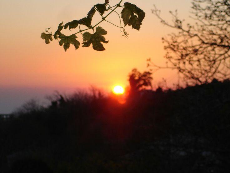Ηλιοβασίλεμα .