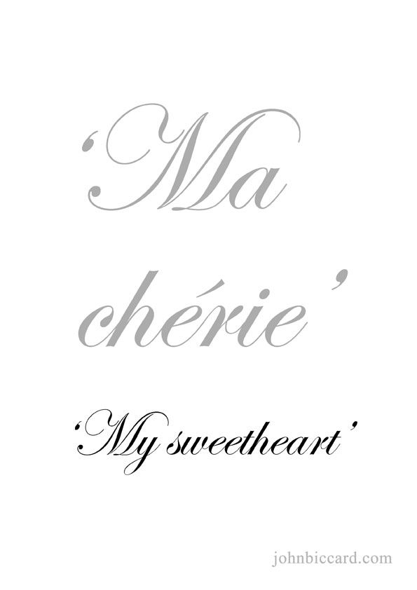 I Love You Sweetheart In French