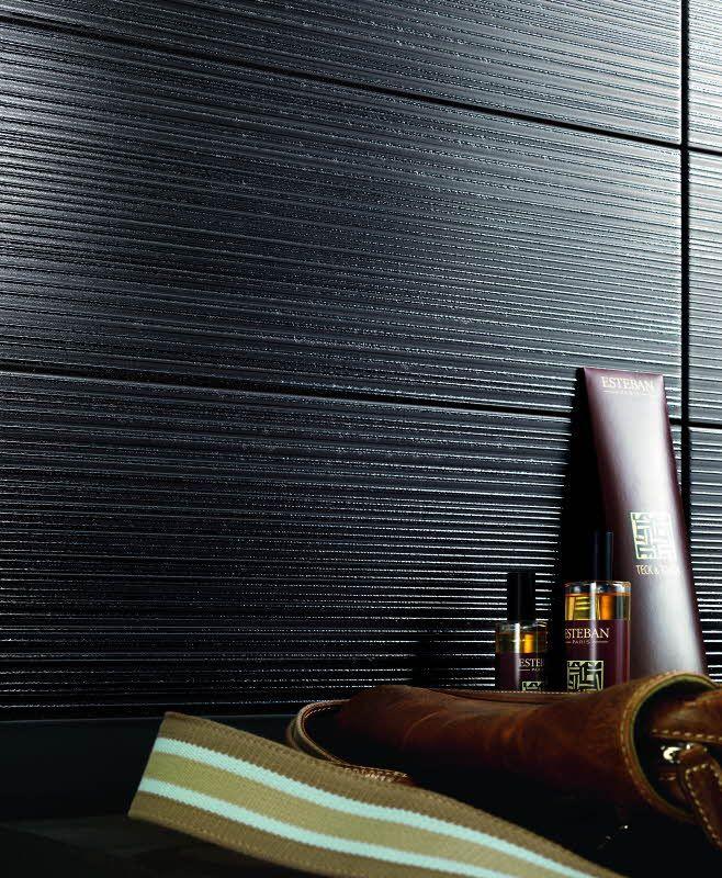 Time R0QQ Titanium I, 20x50cm. Värisilmästä. http://kauppa.varisilma.fi/laatat/seinalaatat/time/ #laatta #keraaminenlaatta #kylpyhuone