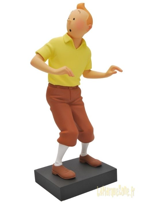 statuette Tintin cigares du pharaon Fariboles galerie personnages
