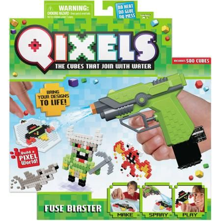 Qixels Fuse Blaster | This would be a cool way to make decorations for my room, and good for games, too! Plus, they make refill packs so I could make more without having to get another blaster.