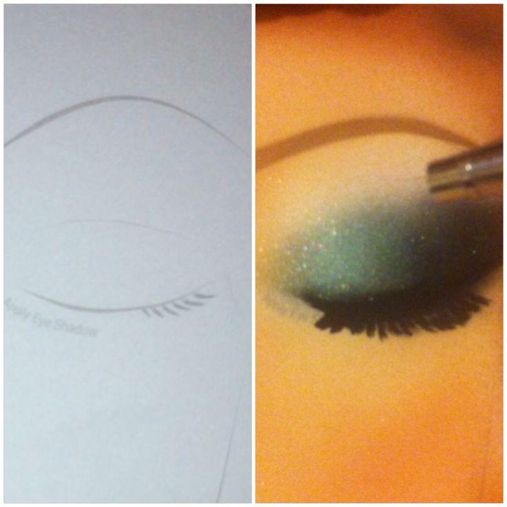 #Airbrushmakeup maquillaje aerografo, practicando y mezclando colores. Dinair❤️