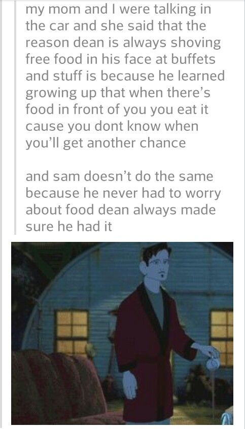 Supernatural! I love all these touching theories about the Winchester boys. And...can I just say I love the image from Iron Giant, haha! So great, it sums up my feelings perfectly. LOVE that movie too :D