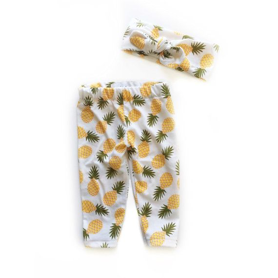 Pineapple clothing set Matching leggings and by Buggabooaccessory