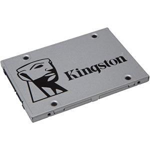 Disco duro SSD de estado sólido Kingston SSDNow UV400 . 10 veces más rápido que un disco duro normal de 7200 rpm. Con mayor fiabilidad y resistencia. 480 Gb para  tus datos.