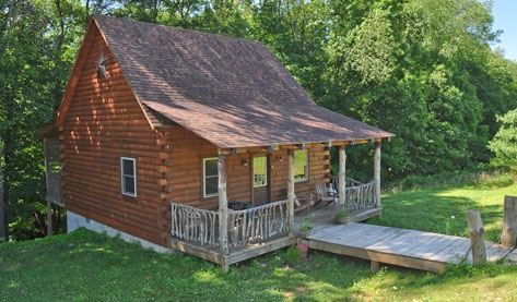 Hillside Hideaway in lovely Hocking Hills, southern Ohio.