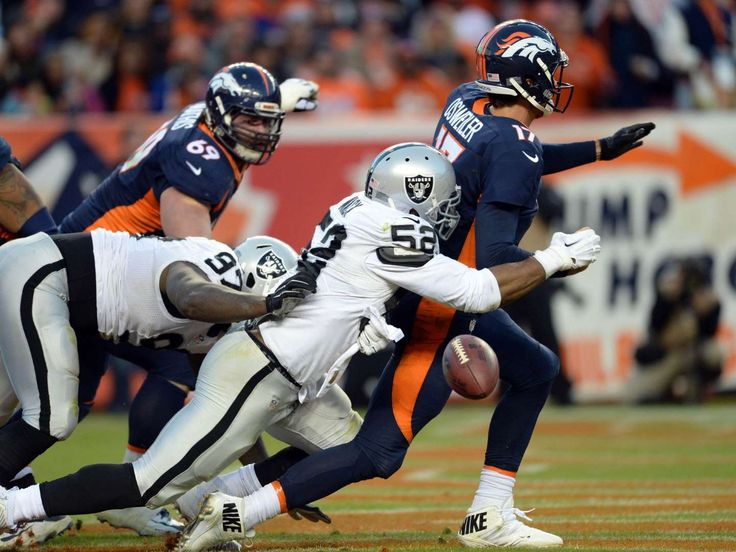 16. Raiders (19): Khalil Mack's 14 sacks now pace league. Maybe now he can get his picture on NFL.com's stats page instead of a silhouette.       - Ron Chenoy, USA TODAY Sports  -    NFL Power Rankings Week 15