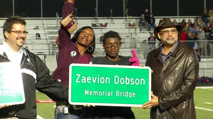 Knoxville area leaders came together Friday night to dedicate a bridge in honor of teen hero Zaevion Dobson.