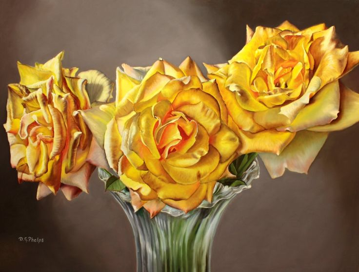 yellow Rose painting, yellow flower picture, wall art yellow flower, yellow flower art, yellow rose art,yellow rose,artwork for sale,realism by DelmusPhelpsArtworks on Etsy