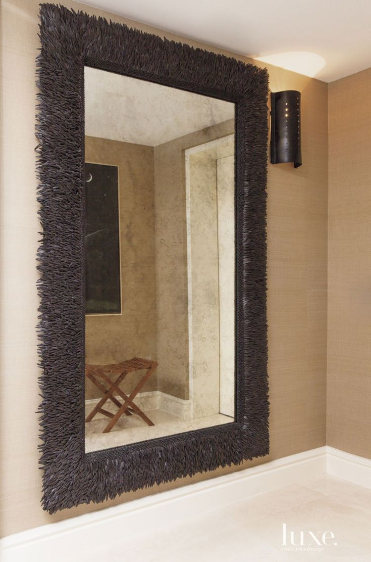 Contemporary Foyer Mirrors : Contemporary coconut shell foyer mirror luxe entries