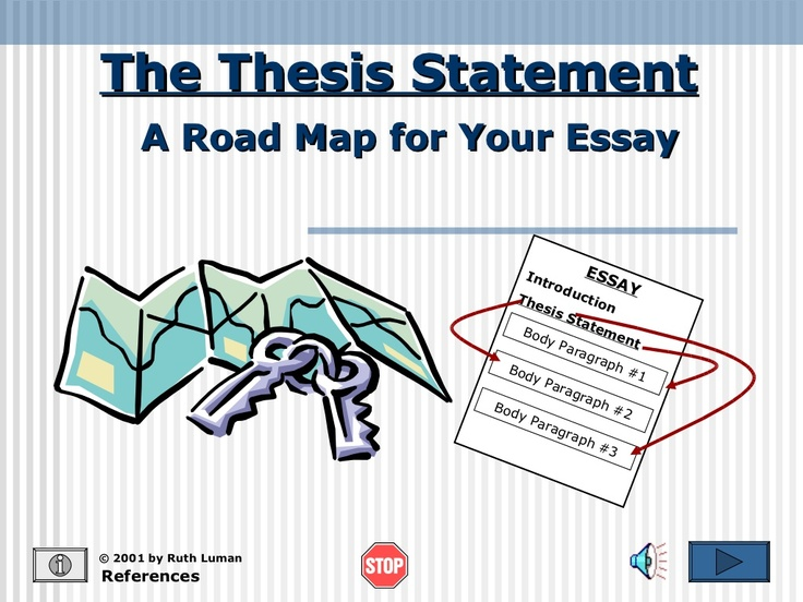 Thesis Statements  Four Steps to Great      second Recap
