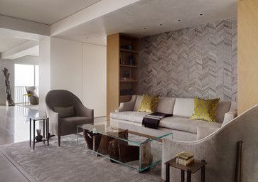 Contemporary High Rise Apartment Modern Living Room