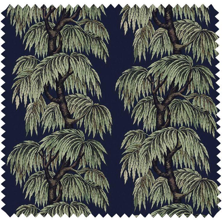 BABYLON Velvet Midnight Willow Fabric House of