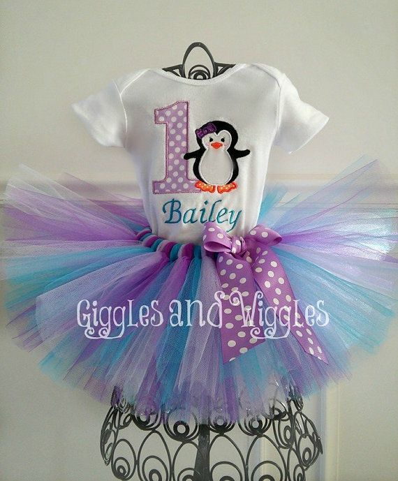 Penguin Tutu Outfit 1st Birthday Tutu Outfit by GigglesandWiggles1