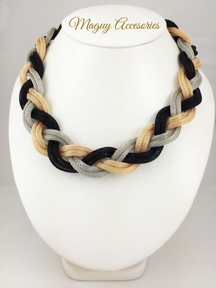 Collar trenza Precio Pùblico $219 Código 1866 Incluye aretes www.margori.com