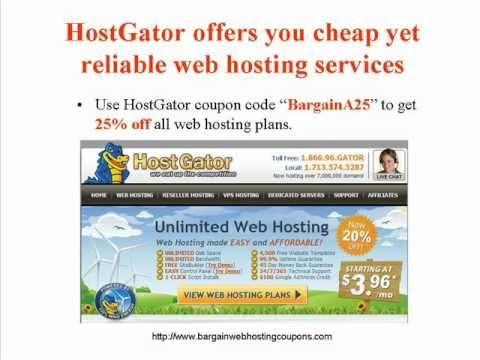 Free or Cheap Web Hosting - Coupon Code for 25% Off: BargainA25 Marketing Your Business Word Wide. Starting with Professional Webhosting.