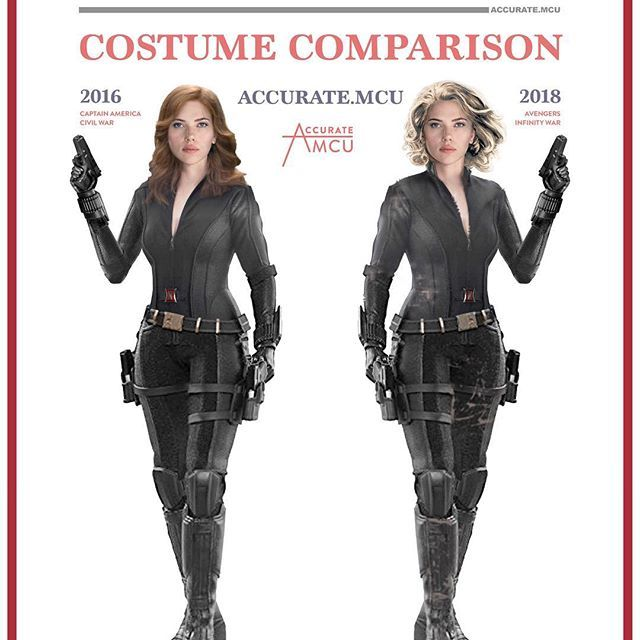 • BLACK WIDOW - COSTUME COMPARISON • Because I'm really hyped to see natasha again in infinity war I decided to make a comparison between her look in infinity war and my favorite black widow look. I really wonder what nat's role will be in infinity war . What black widow look is your favorite and what do you think of her infinity war look ??? let me know in the comments below and rate her MCU look from 1/10✌️ ———————————————————— #marvel #mcu #ironman #captainamerica #thor #hulk…
