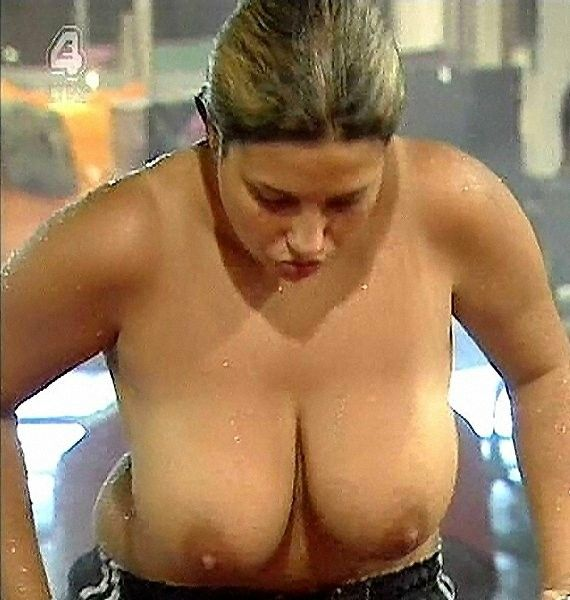 Topless girls in uk reality show with big black boobs