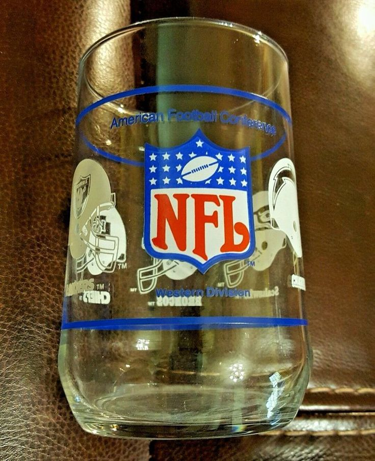 NFL MOBIL GLASS AFC Western Division RAIDERS BRONCOS CHARGERS SEAHAWKS CHIEFS #MobilOilNFL #WesternDivisionAFC
