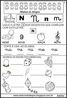 Livro famílias silábicas-letra N