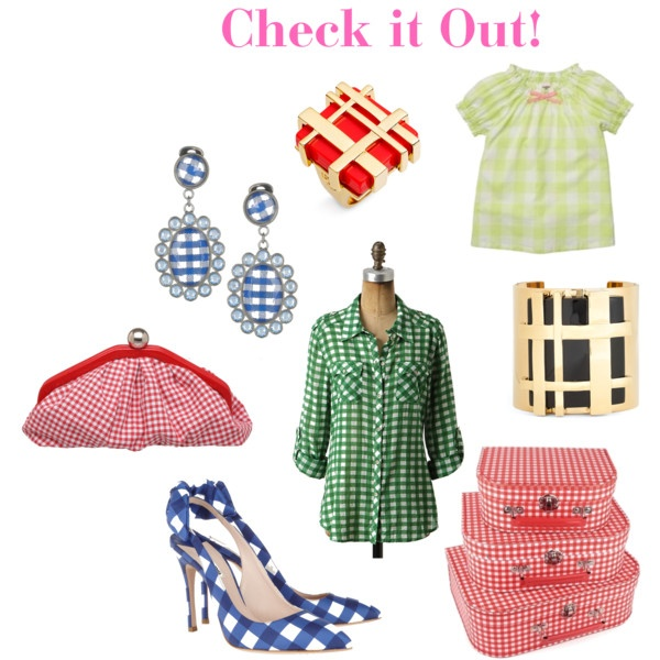 gingham: Gingham Green, Gingham Giddy, Things Gingham, Glorious Gingham, Gingham Yellow, Gingham R, Gingham Good, Gingham Style