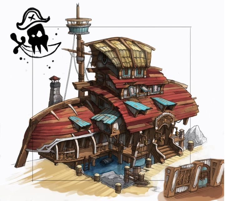 Pirate House Scene (Artyom Vlaskin concept) - Polycount Forum