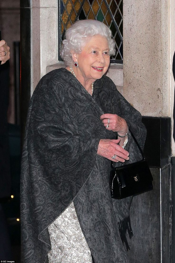 The Queen appeared to be in high spirits as she was pictured arriving in order to celebrate a friend's birthday