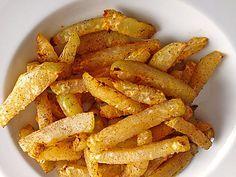 Cabbage Turnip fries. Low Carb. Recipe in German. Kohlrabi-Pommes, geeignet für LowCarb Diät.