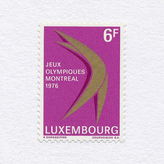 Montreal Olympic Games 1976 (6F). Luxembourg, 1976. Design: R. Dornseiffer
