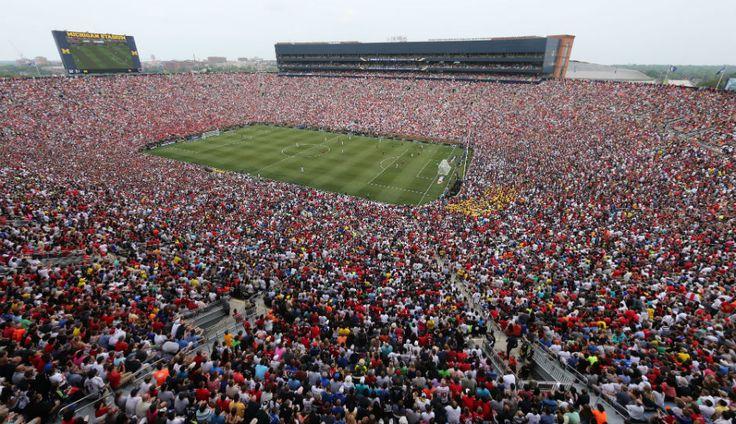 Popular much? 109k in the Michigan Stadium for Man Utd v Real Madrid.