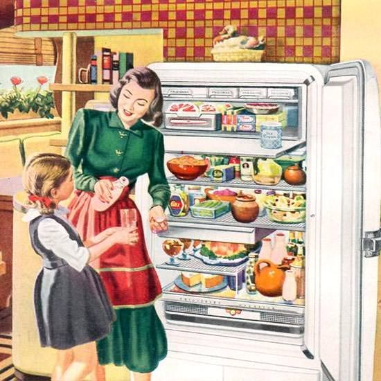 Detail Of General Motors Refrigerator Frigidaire 1948