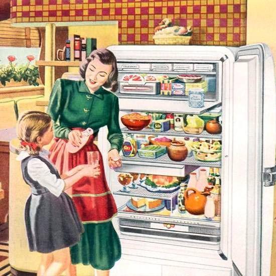 Detail Of General Motors Refrigerator Frigidaire 1948