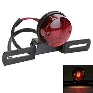 Feux Arrière, OSAN Universal Moto LED Feux Arrière Indicateur de Frein avec Support pour Harley Honda Yamaha Suzuki Kawasaki