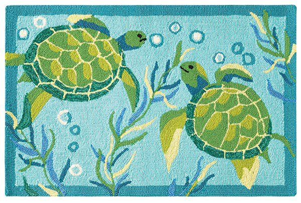 Company C Loop Hooked Turtle Bay Rugs Rugs Direct Outdoor Area Rugs Indoor Outdoor Area Rugs Turtle Homes