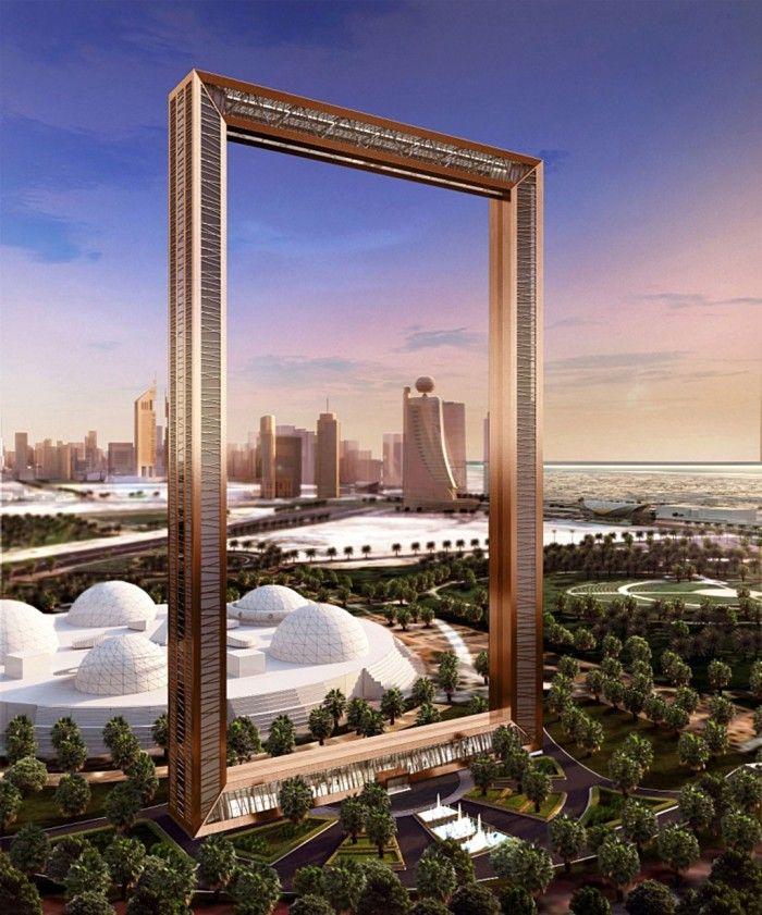 Edificio marco Dubai Frame Emiratos Árabes. 300 metros