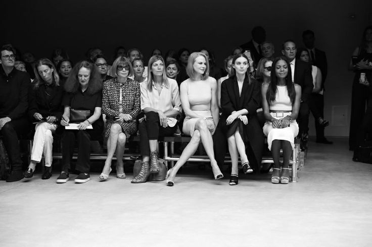 Grace Coddington, creative director de Vogue US, Anna Wintour, rédactrice en chef de Vogue US, Virginia Smith, fashion market / accessories ...