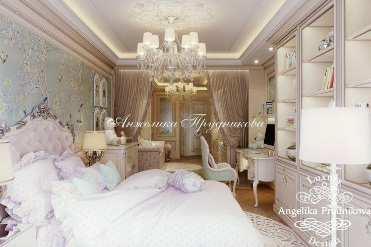 Дизайн проект интерьера детской комнаты в ЖК кутузовская Ривьера - фото