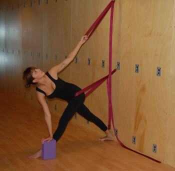 57 best iyengar yoga rope wall standing poses images on