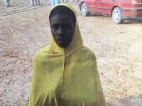 Boko Haram teen bride paid 40p for suicide bombing in northern Nigeria  Rare footage obtained by Sky News shows the moment police confront a 14-year-old girl used by militants in a bomb attack attempt.
