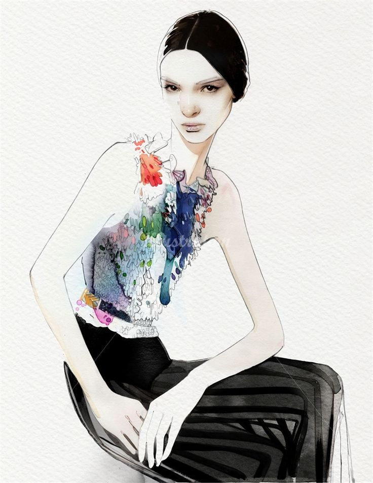 An illustration for Givenchy fashions by Nuno DaCosta