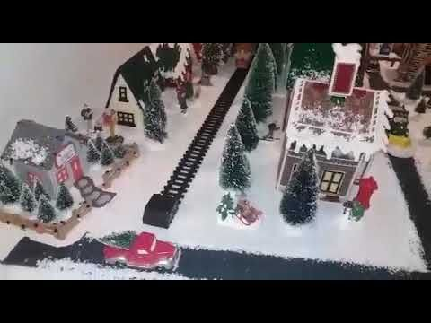 Christmas Village in Plastic Canvas 2017 - YouTube | Plastic
