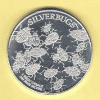 This is a classic Silverbugs round. It provides a unique perspective into the silver value today. Each bug has the AG designation stamped onto its back.