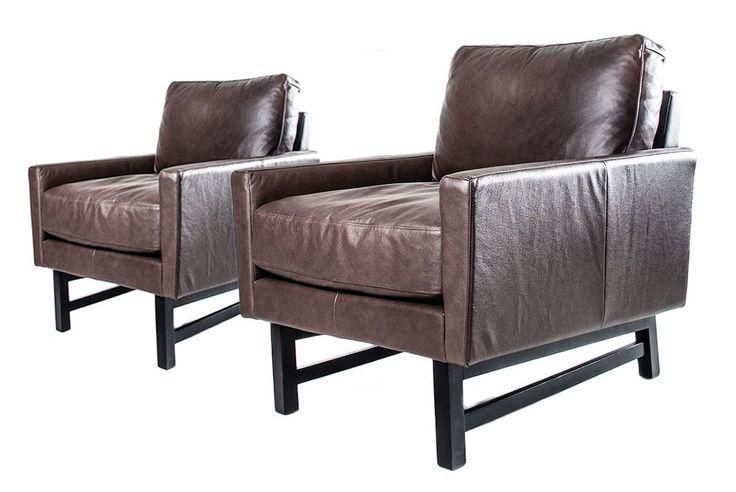2st bruna läderfåtöljer från Welander möbler – two brown leather armchairs from Welander furniture design @bjornwelander