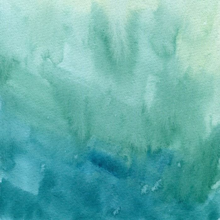 Hand Drawn Turquoise Blue Green Watercolor Abstract Paint Texture