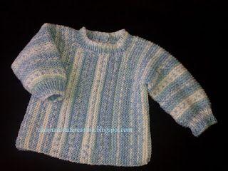 Das Mãos da Teresinha: Casaco de tricô para bebé tam. 1 - 3 meses