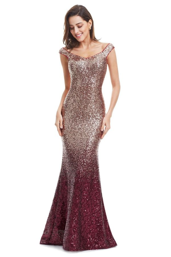 e6e13f9c0c777 Eva Ombre Sequins Formal Dress in Rose Gold | Ephesians 5:31 | Party ...