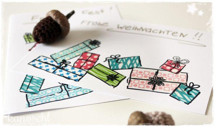 Kanoschl: Weihnachtspost mit Masking Tape {DIY}