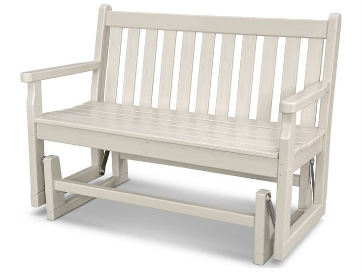 Polywood Traditional Garden Recycled Plastic Glider Bench Green Furniture Gliders Patio Furniture Deals Polywood
