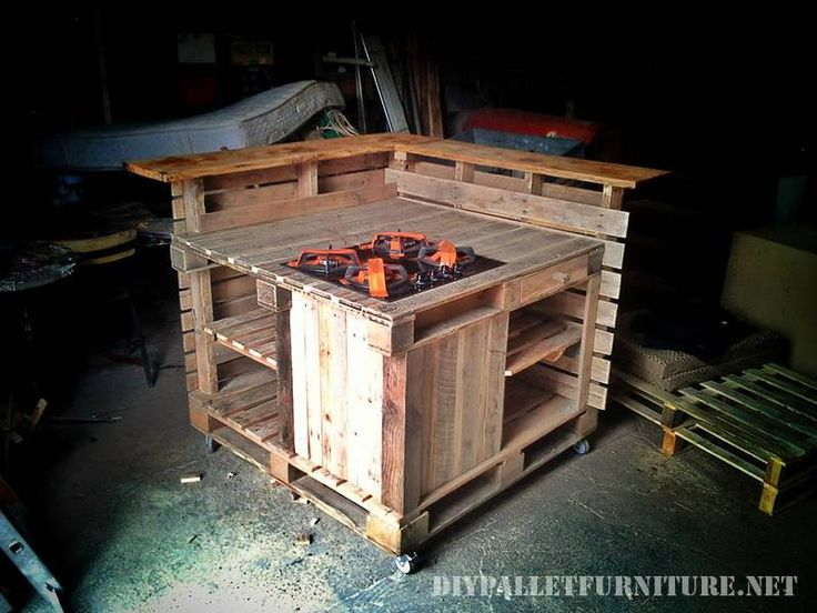 9 best Küche images on Pinterest Pallet furniture, Kitchen - küche aus europaletten